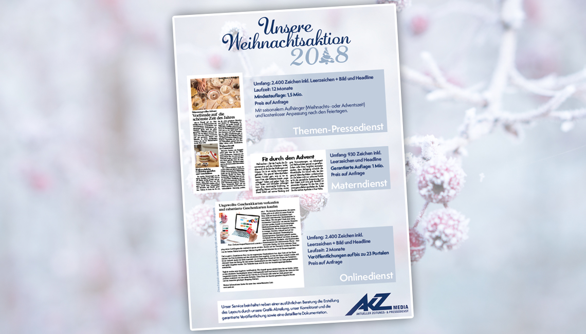 Unsere Weihnachtsaktion 2018 | akz-media.de